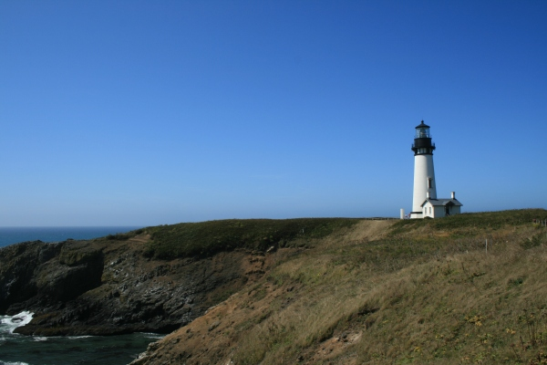 Yaquina Head Lighthouse north of Newport.