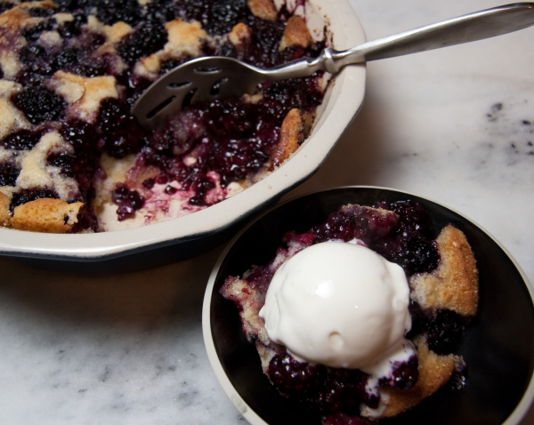 Warm Cobbler with Tillamook Vanilla Ice Cream