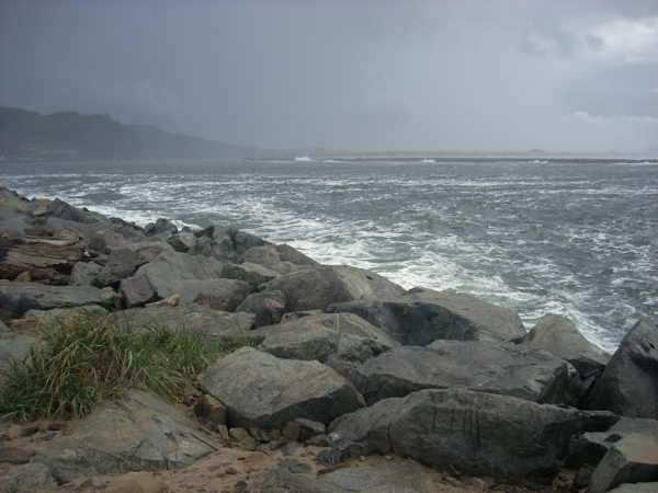 A view of Tillamook Bay at Garibaldi from Barview Jetty Park