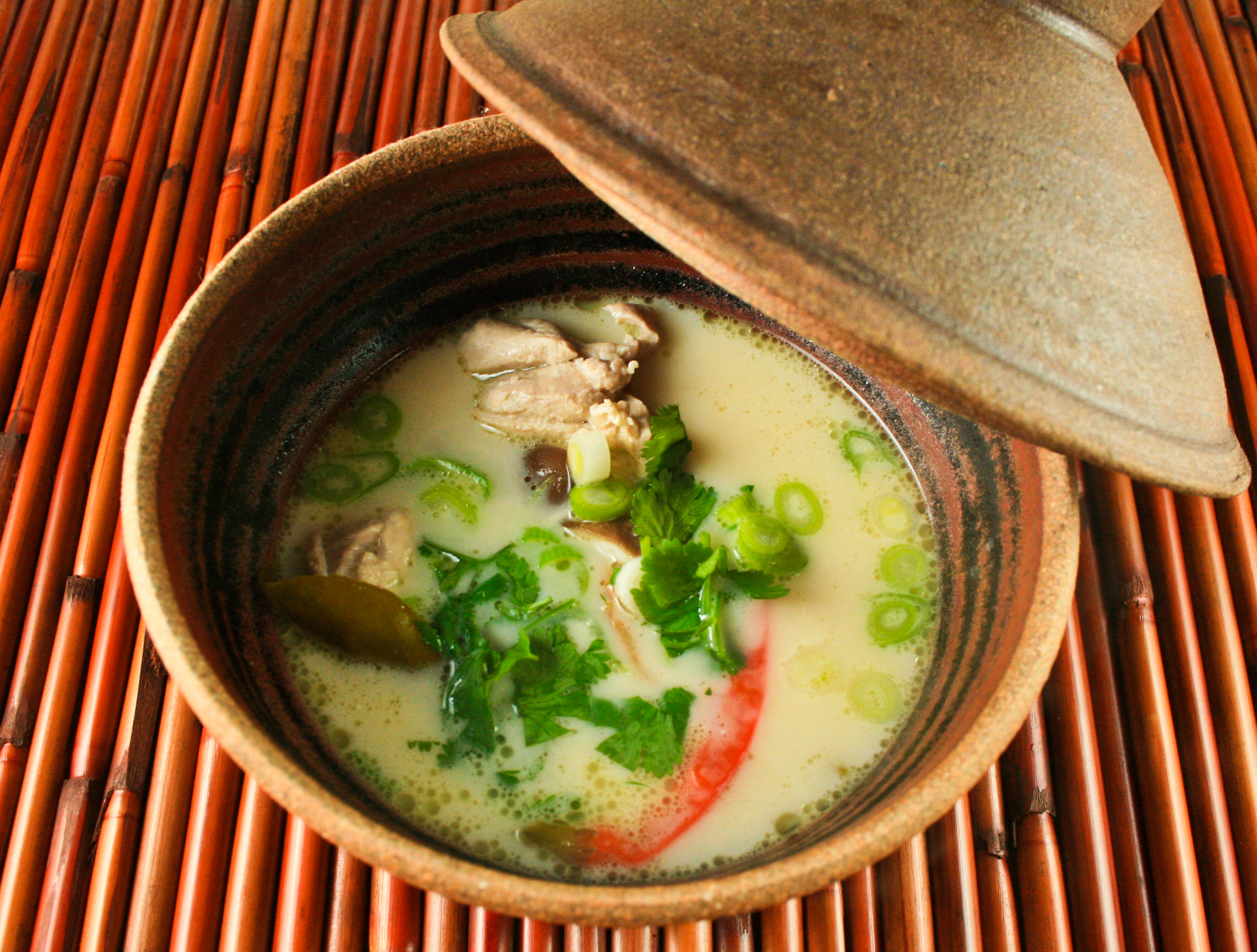 Tom Kha Gai — Hot and Sour Chicken Soup with Galangal and Lemon Grass