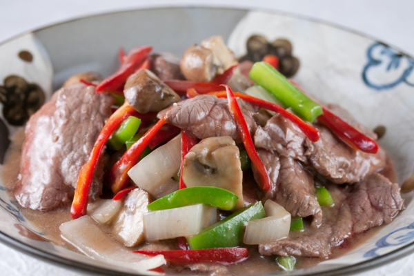 Pranee's Beef with Peppers
