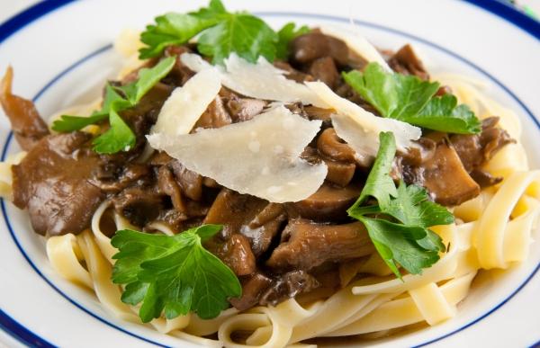 Linguini with Doppelbock Wild Mushroom Sauce