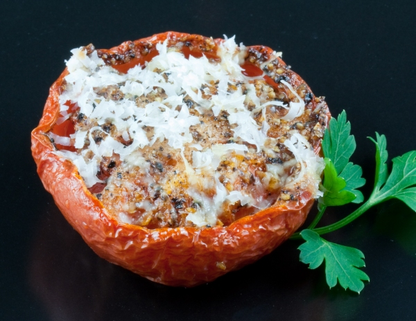 Slow-Baked Tomato with Grated Parmesan